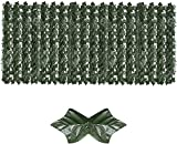 HSWYJJPFB Malla De Ocultacion Jardin Ocultacion Jardin Paneles de setos de Hojas Seto de Madera Valla de Enrejado retráctil Rollo de cribado Valla Artificial de expansión Fences 0911(Color:2;Size:0.