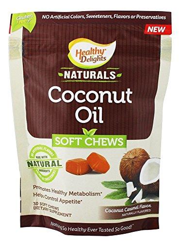 Coconut Oil Soft Chews 500 MG Coconut Caramel (30 Soft Chews)