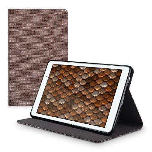 Hülle für Huawei MediaPad T2 10.0 Pro - Tabletcover Slim Case Tablet Schutzhülle - Smart Cover Tabletcase Canvas Design Braun