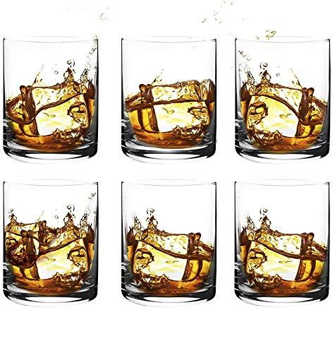 [6-Pack, 350 ml/11.8 oz] DESIGN•MASTER- Bicchieri da Whisky di Alta Qualità, Bicchieri Vecchio Stile Rock per Scotch, Bourbon, Cocktail, Rum, Bicchieri da Whisky Resistenti per Feste, Campeggio.