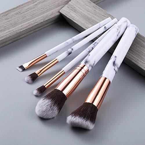 Maquillage anticernes multifonction brosse brosse de maquillage fard à paupières Foundation 2020 outil pinceau de maquillage,5pcs Blanc