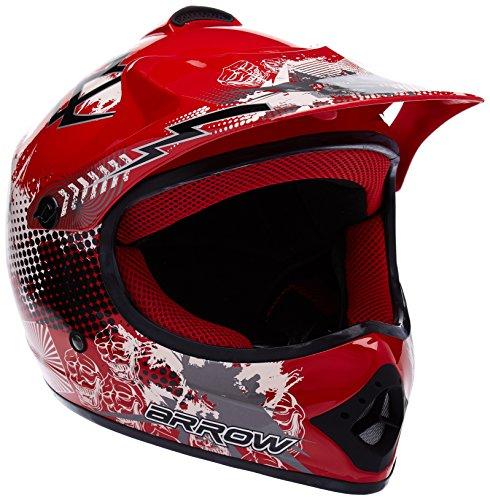 ARROW HELMETS AKC-49 motorcrosshelm kindercrosshelm sport, junior, quad, pocketbike, enduro MX motorhelm, crossbike, kinderhelm, DOT-gecertificeerd, incl. stoffen draagtas