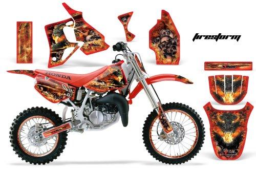 AMR Racing MX Dirt Bike Graphics kit Sticker Decal Compatible with Honda CR80 1996-2002 - Firestorm