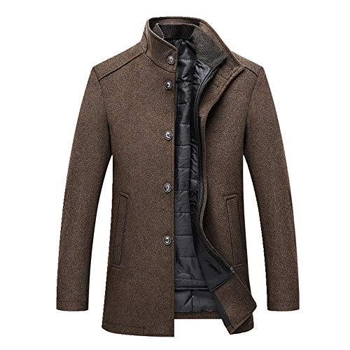 N\P Abrigo de invierno calido de los hombres gruesos abrigos de abrigo para hombre solo botonadura chaquetas y abrigos