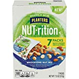 PLANTERS WHOLESOME NUT MIX: PLANTERS NUT-rition Wholesome Nut Mix is a good source of 7 vitamins and minerals INDIVIDUAL SNACK PACKS: Each 7.5-ounce box contains 7 individual packs of PLANTERS NUT-rition Wholesome Nut Mix DELICIOUS NUT BLEND: Roasted...