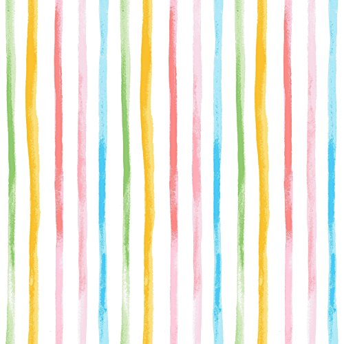 Stitch & Sparkle Fabrics, Watercolor Floral, Watercolor Stripe Cotton Fabrics, Quilt, Crafts, Sewing, Cut by The Yard