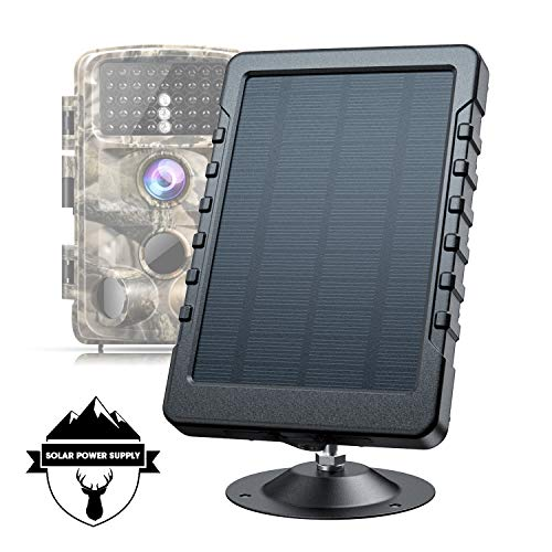 Campark Trail Camera Solar Panel DC 6V/3000mAh Solar Power Bank Portable Charger IP56 Waterproof for Hunting Game Cameras (No Batteries Required)
