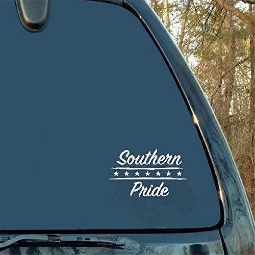 16 * 9,6 cm Southern Pride Vinyl autostickers zwart achterklep spatbord accessoires raam embleem voor Cadillac BMW Dodge Mitsubishi
