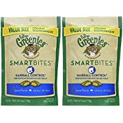 Feline Greenies 2 Pack of Smartbites Hairball Control Cat Treats, Tuna, 4.6 Ounces Per Pack