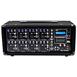 Seismic Audio - SA-MA8C - 8 Channel 400 Watt Powered PA Head Mixer with Bluetooth and Effects