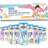 DLD Sueros y fluidos BB Booster Starter Kit Vitamina C Ácido Hialurónico Tratamiento de la Piel Spa Fluidos Iluminadores para Ampolla Facial Serum Esencia Maquillaje 10 Viales