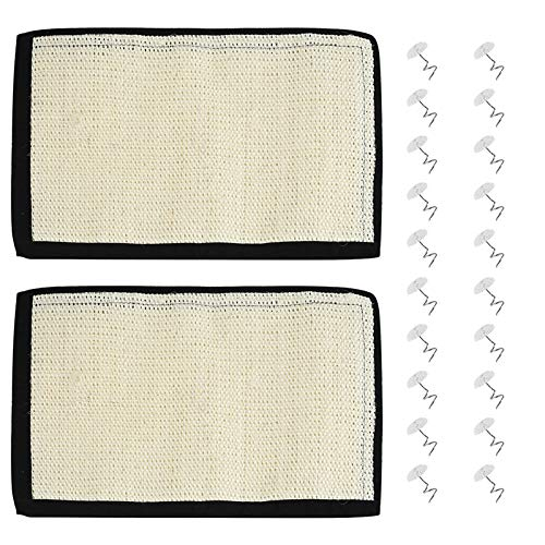 2pcs Cat Scratcher for Sofa Protector, Furpaw Sisal Furniture Protector for Cat Scratching Pad Repellent Clawing Couch Guard, Pet Scratch Mat Sofa Shield Accessories - 30x40 cm