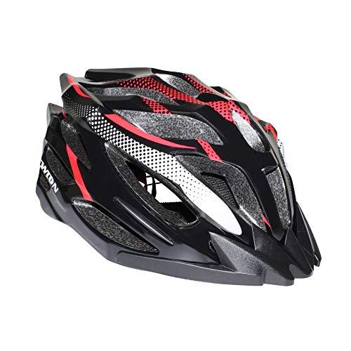 Newton helm voor volwassenen mountainbike X-Caliber Black-Red In-Mold maat 55-58 met blokkering (uitverkocht in doos)