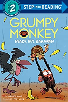 Grumpy Monkey Ready, Set, Bananas! (Step into Reading) by [Suzanne Lang, Max Lang]