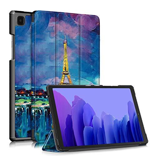 topCASE Soporte Funda para Samsung Galaxy Tab A7 10.4 Pulgadas SM-T500/T505/T507 2020 Carcasa,Ultra Delgado Stand Función Smart Cover Auto-Sueño/Estela,Torre c