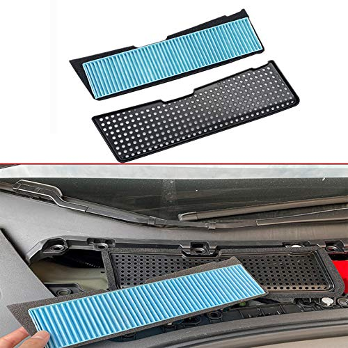 Wocch Air Intake Filter + Air Intake Grille Cover for Tesla Model 3 2021, 2pcs