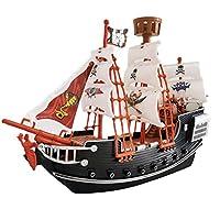 海賊船キット 海賊船ふりおもちゃ 子供用 玩具 海賊 誕生日 プレゼント 家の装飾 装飾品 子供のための安全耐久性のある海賊船モデル