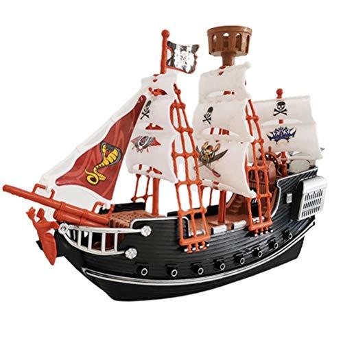 Nevay Puzzle Piratenschiff Modell Schiff Kinder Piratenschiff Pretend Toy Home Decoration Ornamente Sicherheit Langlebiges Piratenschiff Modell für Kinder