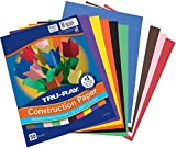 Tru-Ray Construction Paper, 10 Classic Colors, 9' x 12', 50 Sheets