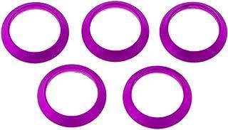 5pcs Angelrute Wicklung Check Ring Lila