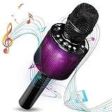 Micrófono inalámbrico de karaoke, i-Star Bluetooth Karaoke con luz de disco LED, máquina de karaoke inalámbrica portátil para cantar