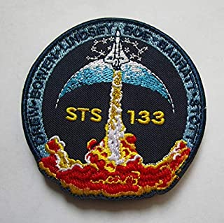 STS 133 NASA Space Mission Military Patch Fabric Embroidered Badges Patch Tactical Stickers for Clothes with Hook & Loop