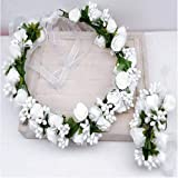 Zoom IMG-1 dressfan ghirlanda di fiorifascia per