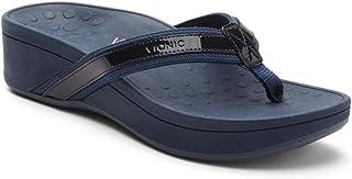 12a2f6d79e2de5 Vionic Women s Pacific High Tide Toepost Sandals – Ladies Platform Flip  Flops with Orthotic Arch Support