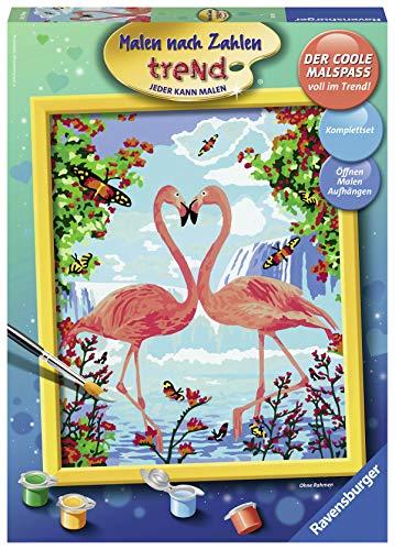 Ravensburger Malen nach Zahlen 28901 - Flamingo Love - Für Erwachsene und Kinder ab 12 Jahren