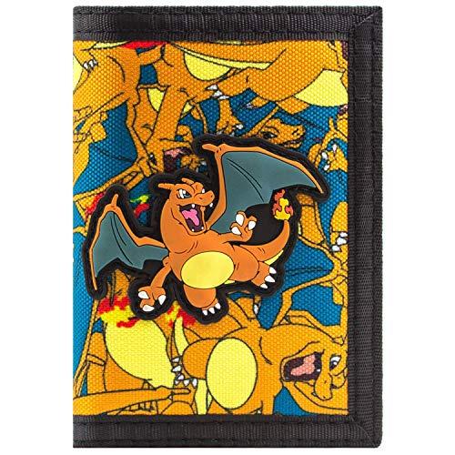 Pokemon Charizard No.6 Fire Orange Coin Card Tri-Fold Wallet