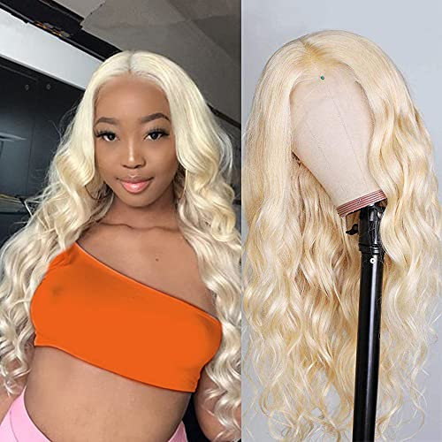 Blonde Lace Front Wigs Human Hair 13x4x1 Body Wave 613 Lace Front Wig Human Hair 613 Frontal Wig Human Hair 150% Density Pre Plucked with Baby Hair 18 Inch