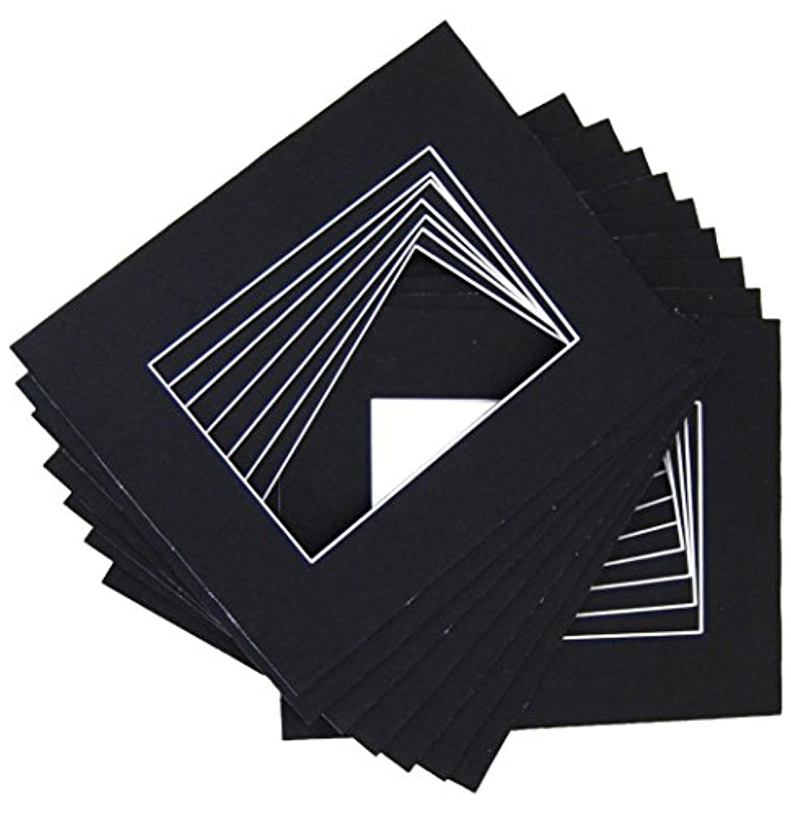 16x20 for 12x16 Black Mat with whitecore 100/pack
