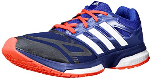 adidas hombres Response Boost Techfit M Running zapatos, Core negro/Metallic plata/Dark Orange, 13 M US
