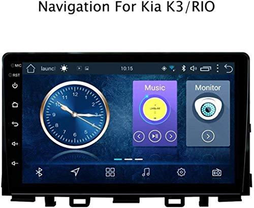 GLFDYC Android 8.1 GPS Navigation Car Stereo Radio, para KIA K3 Rio 2017, 9 Pulgadas Pantalla Táctil Completa Reproductor Multimedia, Bluetooth Enlace Espejo Control Volante USB FM Am,4G+WiFi:1+16G