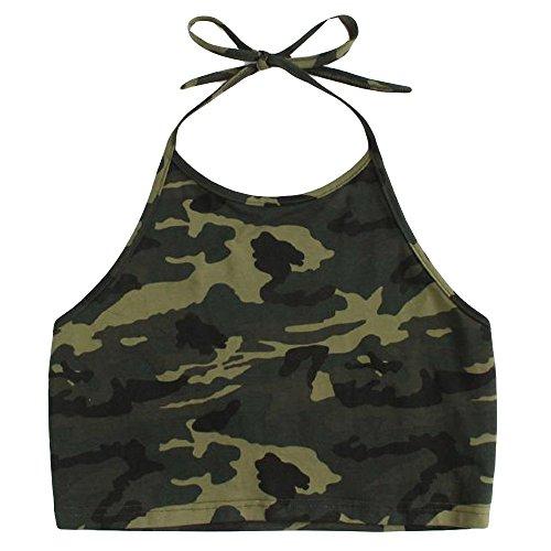 2020 Sommer Brauchfreie Oberteile, Damen Casual Kurz T Shirt, Camouflage Weste, Funkeln Camisole, Ärmellose Tank Top, Sexy Spitze Crops Tops, Spagehtti-Träger V-Ausschnitt Top