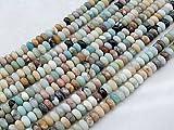 Beads Ok, DIY, Golden Amazonite Jaspe, Genuino, Naturales, 8x5mm Abalorio Cuenta Mostacilla o...