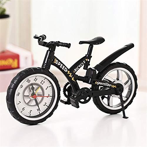 LKXNB Despertador De Bicicleta Grande Forma Creativa Decoración De Escritorio Dinámica Despertador para Niños Diversión Estudiante 26 * 14.5Cm