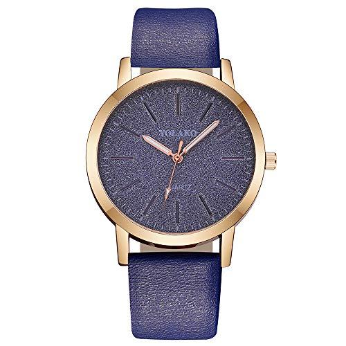 LSAltd Damen Casual Quarz Lederband Sternenhimmel Uhr analoge Armbanduhr