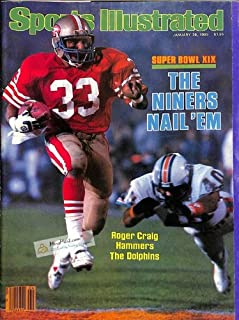 Sports Illustrated (January 28, 1985) Super Bowl XIX - The Niners Nail 'Em - Roger Craig Hammers The Dolphins