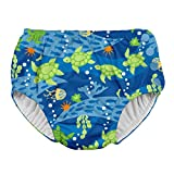 i play. by green sprouts Boys' Baby Snap Reusable Absorbent Swimsuit Diaper, Royal Blue Turtle Journey, 18 Months