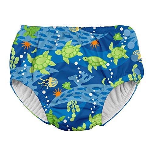 Green Sprouts Swim Nappy Couche Culotte De Bain, Royal Blue Turtle Journey, 24mo (18-24 Mois) Baby-Boys