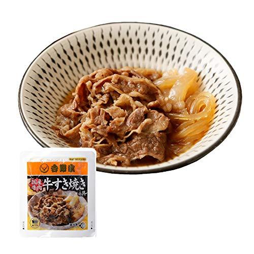 吉野家 [ 国産 牛すき焼きの具 / 120g×10袋セット ] 冷凍 どんぶり 牛肉 (湯せん専用)
