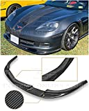 Extreme Online Store EOS ZR1 Style Carbon Fiber Front Bumper Lower Lip Splitter for 2005-2013 Chevrolet Corvette C6 Wide Body Models