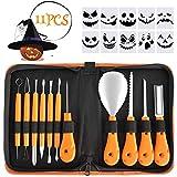 Fostoy Pumpkin Carving Tool Kit,Carve Halloween Lantern Set 11PCS Carving Tool Set with Storage Bag...