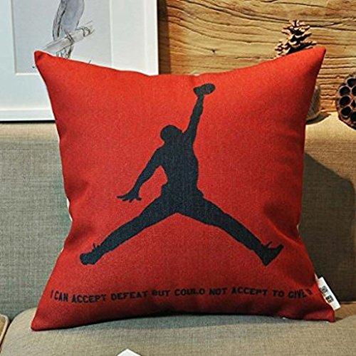 Kenneth Fall Michael Jordan Custom Kissen Basketball Fans Überwurf Kissen Fällen 45,7x 45,7cm (eine Seite)