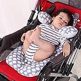 Asiento infantil para auto Insertar, G-Cotton Tree cochecito de bebé Liner cabeza y cuerpo de apoyo almohada, cojín de asiento infantil de Carseat la ayuda del cuello del amortiguador para el niño