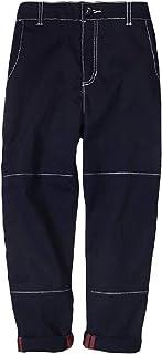 Pandapang Big Boys Solid Casual Fleece Multi Pockets Cargo Jogger Pants