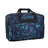 Paquete de 3 bolsas para máquina de coser, funda acolchada a prueba de polvo con asas y bolsillos, estuche de almacenamiento acolchado plegable para máquina de coser (verde)