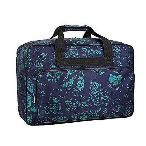 3 bolsas de protección para máquina de coser, acolchadas de alta calidad, a prueba de polvo, con asas y bolsillos, funda de almacenamiento acolchada plegable para máquina de coser (verde)