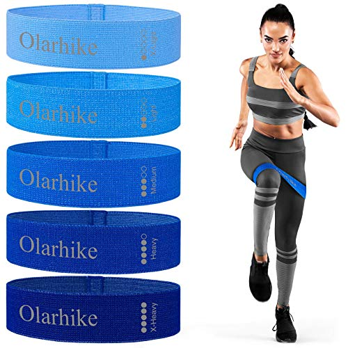 OlarHike Resistance Bands Set for Booty and Glutes Pack of 5 Bands Exercise Bands and Workout Bands for Home Working Out Yoga Fitness